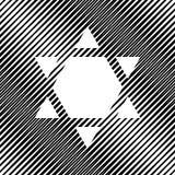 Bouclier Magen David Star Inverse Le symbole de l'Israël a inversé Vect illustration libre de droits