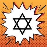 Bouclier Magen David Star Symbole de l'Israël Vecteur Style de bandes dessinées illustration de vecteur