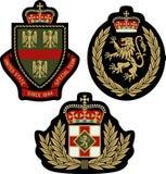 Bouclier royal d'insigne d'emblème Images libres de droits