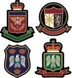 Bouclier royal d'insigne d'emblème Photo stock