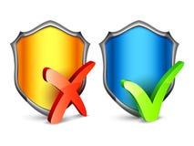 Boucliers de sécurité Image stock