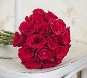 Boucquet de la rosa del rojo Foto de archivo libre de regalías