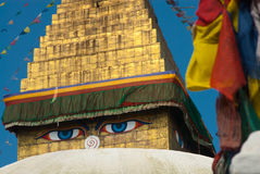 Boudanath寺庙加德满都 库存图片