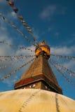Boudanath寺庙加德满都 库存照片