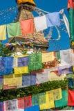 Boudanath寺庙,加德满都,尼泊尔 免版税库存图片