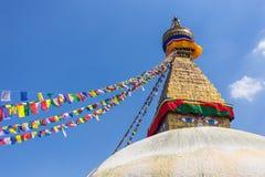 Boudanath är den största stupaen i Katmandu, Nepal fotografering för bildbyråer