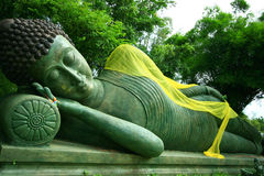 Bouddha étendu Photographie stock libre de droits