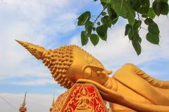 Bouddha étendu chez Wat That Luang South, Vientiane, Laos image libre de droits
