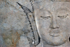 Bouddha antique font face, Ayutthaya, Thaïlande Photographie stock libre de droits
