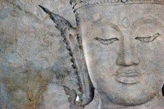 Bouddha antique font face, Ayutthaya, Thaïlande illustration stock