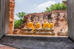 Bouddha antique sur 500 ans à Ayutthaya Photographie stock