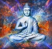 Bouddha assis dans Lotus Pose illustration libre de droits