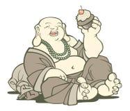 Bouddha avec le petit gâteau Illustration Stock