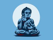bouddha blanc de vecteur d'isolement par ENV de 8 emblèmes illustration de vecteur