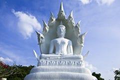 Bouddha blanc grand. Photos libres de droits