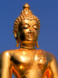 Bouddha d'or à la triangle d'or Image libre de droits