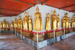 Bouddha d'or chez Wat Pho Bangkok, Thaïlande Images libres de droits