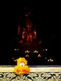 Bouddha dans le temple Image libre de droits