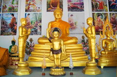 Bouddha dans le temple de Teptongchai en Thaïlande Image libre de droits