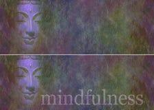 Bouddha dans les bannières de site Web d'ombres Photo stock