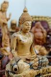 Bouddha en bois   Image stock