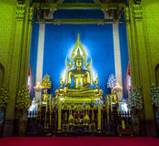 Bouddha en Wat Benchamabophit Image stock