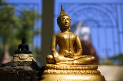 Bouddha endommagé Photos stock
