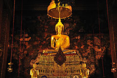 Bouddha enfoncé du temple de la Thaïlande Bangkok Wat Pho photo libre de droits