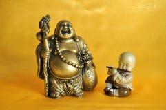 Bouddha et le moine Photographie stock libre de droits