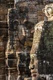 Bouddha fait face au Cambodge Images libres de droits