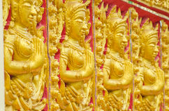 Bouddha font face Photographie stock libre de droits