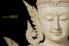 Bouddha font face fait de la cire Photos libres de droits