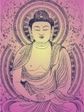Bouddha méditant Photos libres de droits