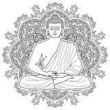 Bouddha méditant assis illustration libre de droits