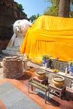 Bouddha menteur dans Ayuthaya, Thaïlande, Images libres de droits