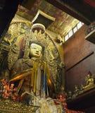 Bouddha - monastère de Boudhanath - le Népal Images libres de droits