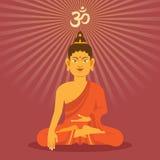 Bouddha plat Photo stock