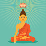 Bouddha plat Images libres de droits