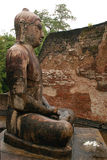 Bouddha a posé le vatadage de temple de statue Photo stock
