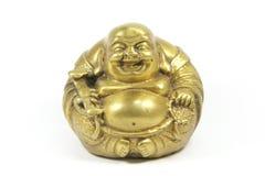 Bouddha riant a isolé Image libre de droits