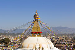 Bouddha Stupa bouddhiste à Katmandou, Népal photos libres de droits