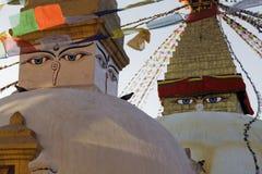 Bouddha Stupa, Katmandu, Nepal Arkivbilder