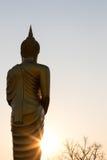 Bouddha tenant l'aumône solaire photographie stock