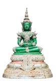 Bouddha vert a isolé Images libres de droits