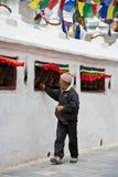 bouddhanath dewotki modlitewny kręcenia koło Fotografia Royalty Free