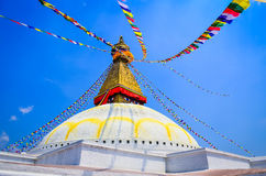 Bouddhanath stupa during the day in Kathmandu, Nepal Stock Photography