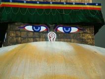Bouddhanath Stupa, Kathmandu. Buddhist symbol on Bouddhanath (Bodnath) Stupa in Kathmandu stock photos