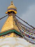 Bouddhanath Stupa the landmark of in Kathmandu Nepal Royalty Free Stock Photography