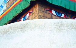 Bouddhanath tempel i Katmandu, Nepal Fotografering för Bildbyråer