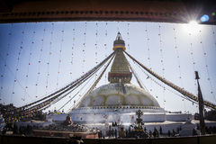 Bouddhanath temple Royalty Free Stock Photography
